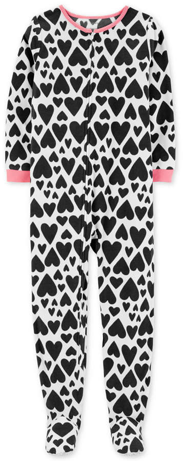 Carter's Carter Little & Big Girls Heart-Print Fleece Pajamas