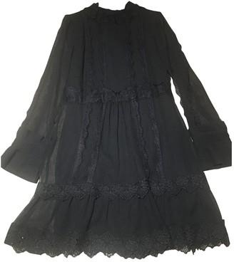 Edward Achour Black Silk Dress for Women