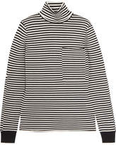 Joseph Striped Merino Wool Turtleneck Sweater - Ecru