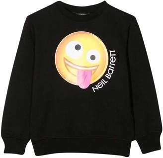 Neil Barrett Black Sweatshirt Teen