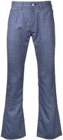 Junya Watanabe Comme Des Garçons Man contrast pockets bootcut jeans