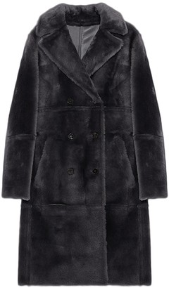 Yves Salomon Front Pocket and Collar Coat