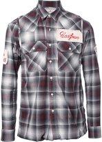 Miharayasuhiro patches plaid shirt - men - Cotton/Rayon - 44