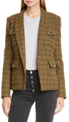 Veronica Beard Hamlin Plaid Wool Dickey Jacket