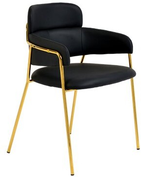 Ephraim Velvet Upholstered Arm Chair Mercer41 Upholstery Color: Black