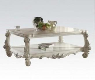 Astoria Grand Maio Wood Coffee Table Astoria Grand Color: Bone White