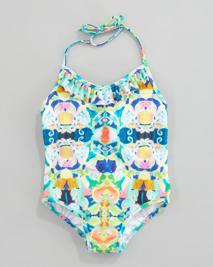 Milly Minis Kaleidoscope Print One-Piece Swimsuit