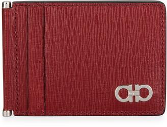 Salvatore Ferragamo Men's Gancini Textured Leather Card Case