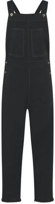 Theavant Denim Jumpsuit In Washed Black
