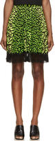 Christopher Kane Green and Black Animal Spot Skirt