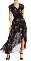 Lucy Paris Brianna Floral Hi-Lo Maxi Skirt
