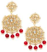 Bamboo Gold Tone Unique Designer Wedding Party Wear Ethnic Jewelry Traditional Earring Kundan Jewelry