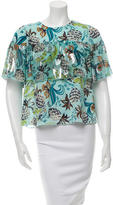 Anna Sui Metallic Printed Top