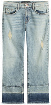 J Brand Cropped Jeans with Distressed Detail
