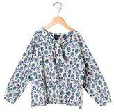 Oscar de la Renta Girls' Floral Long Sleeve Top w/ Tags