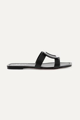 Roger Vivier Bikiviv' Embellished Leather Slides - Black