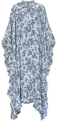 Erdem Paisley Silk Ruffle Handkerchief Dress