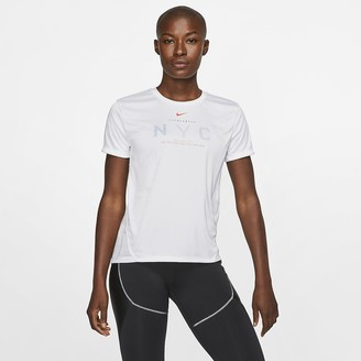 Nike Women's Short-Sleeve Running Top Dri-FIT Miler NYC