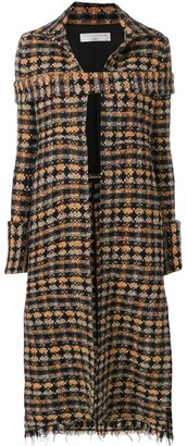Victoria Beckham Long Tweed Coat