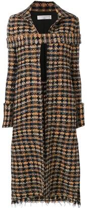 Victoria Beckham long tweed coat