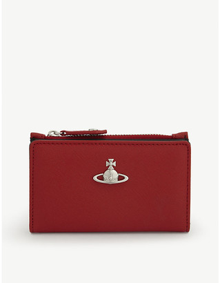 Vivienne Westwood Victoria leather flap wallet