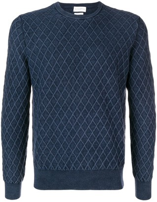 Ballantyne knitted geometric pattern jumper
