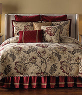 Veratex Belle Fleur Floral Scroll Jacquard & Velvet Comforter Set