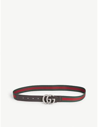 Gucci Kids GG Web stripe elastic belt