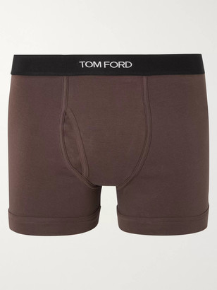 Tom Ford Stretch-Cotton Boxer Briefs - Men - Brown