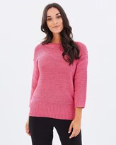 Wallis Button Shoulder Tape LS Jumper