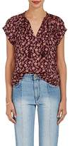 Ulla Johnson Women's Floral Cotton-Silk Voille Ruffled Blouse