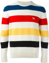 MAISON KITSUNÉ striped jumper