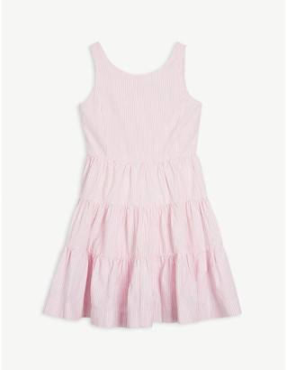 Ralph Lauren Stripe-print cotton dress 7 - 16 years