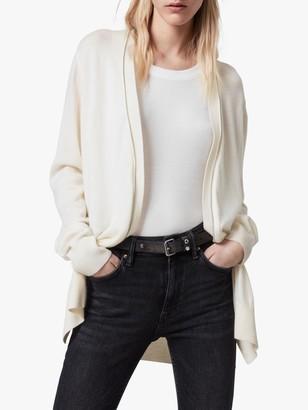 AllSaints Jamie Wool Cardigan, Chalk White