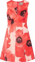 Lela Rose Floral-print silk-gazar dress