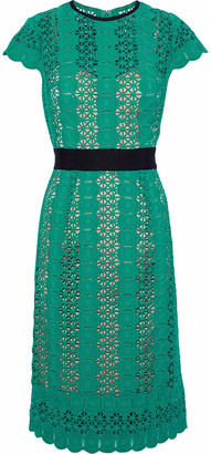 Catherine Deane Grosgrain-trimmed Guipure Lace Dress