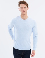 Tommy Hilfiger Cotton Linen Heather Crew Neck Sweater