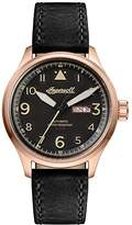 Ingersoll Men's The Bateman Quartz Watch with Black Dial and Black Leather Strap I01803