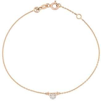 Kismet By Milka 14kt rose gold Gemini diamond charm bracelet