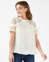 Lipsy Embroidered Frill T-shirt