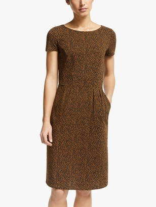 Boden Phoebe Cotton Jersey Dress, Black/Animal Stamp