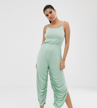 South Beach yoga romper in mint-Green