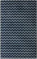 nuLoom 200OWCHV01C-606R Alexa Chevron Vibe Zebra Round Synthetic Fiber Rug (6-Feet Round)