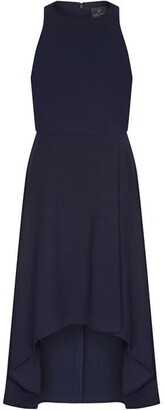 Adrianna Papell Pleat Detail Crepe Dress