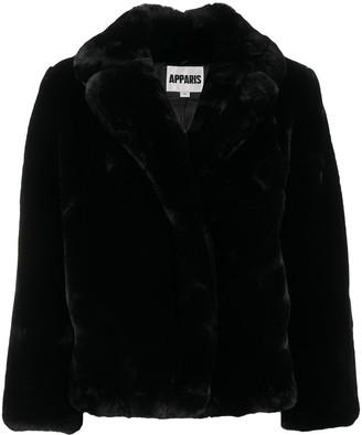 Apparis Manon oversized faux-fur jacket