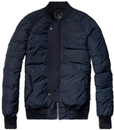 Scotch And Soda Quilted Bomber Jacket