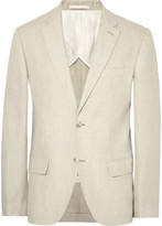 Club Monaco - Beige Grant Slim-fit Puppytooth Linen Suit Jacket