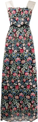 Valentino Pre-Owned 2013 Floral-Print Evening Dress