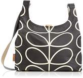 Orla Kiely Womens Linear Stem Print Midi Sling Bag Liqourice