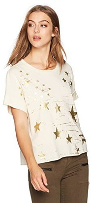 Stateside Women's Foiled Star Print Short Sleeve Tee